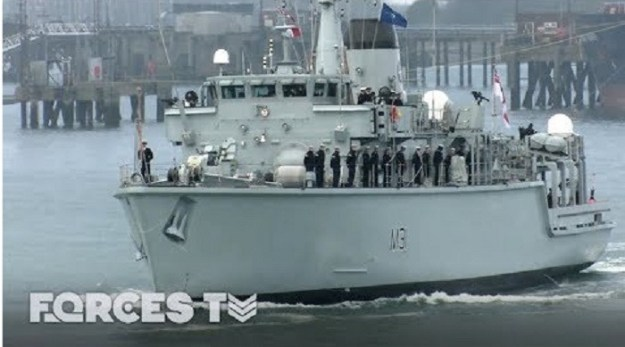 Royal Navy's Minehunter Sets Sail For NATO's Eastern Border