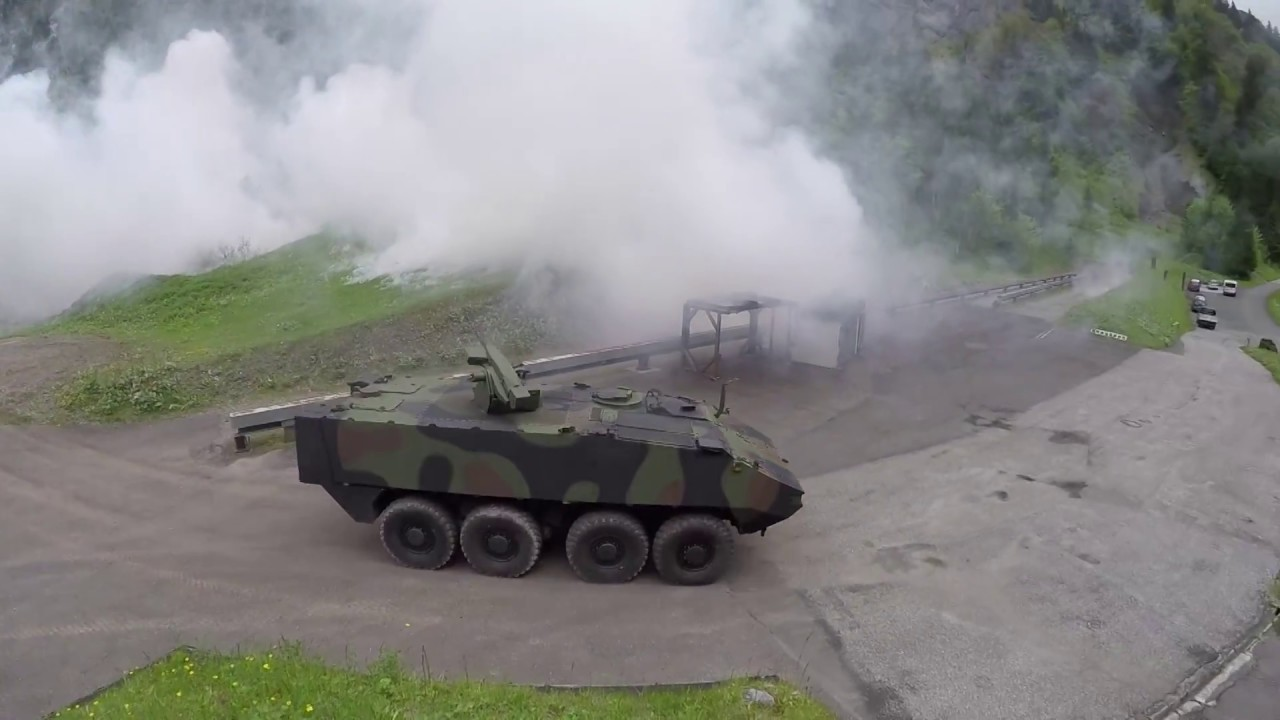 Rheinmetall Fieldranger weapon station with ROSY protection system