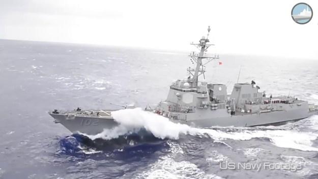 USS Sampson Flight IIA Arleigh Burke-class Destroyer Weapon & Sensor Systems