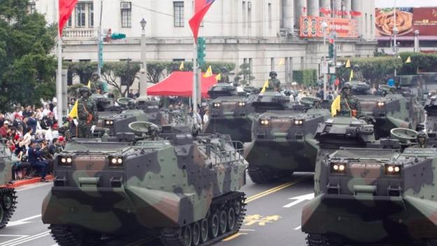Taiwan Marine Corps AAV-P7A1 amphibious assault vehicles