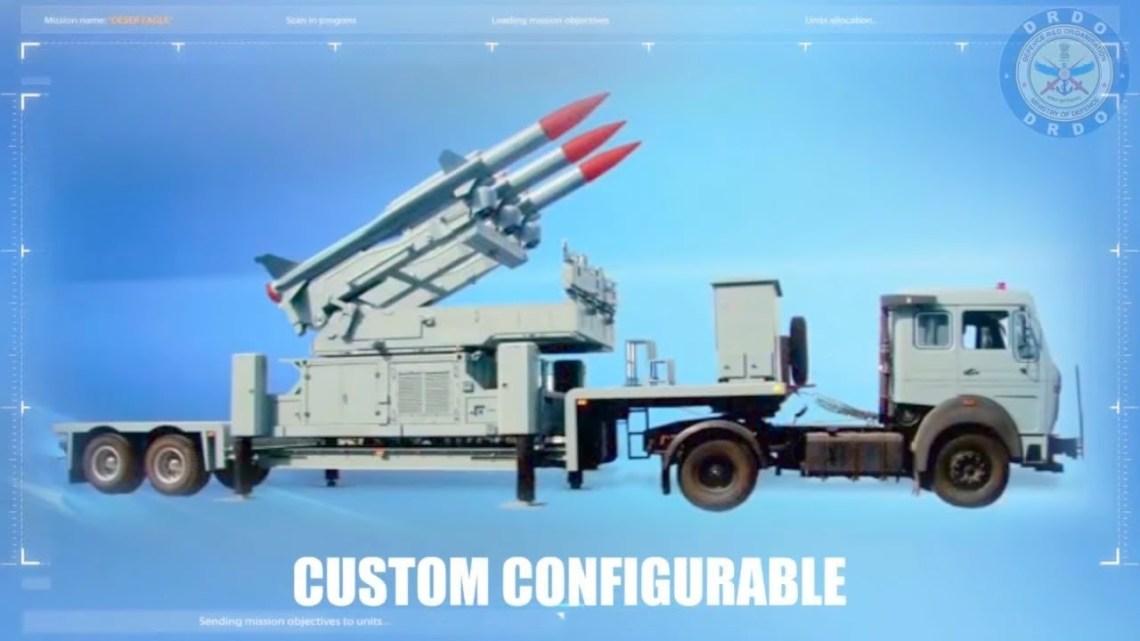 Akash medium-range mobile surface-to-air missile (SAM) system