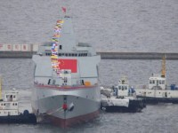 China Launches 2 Type 055 guided missile destroyers destroyers simultaneously