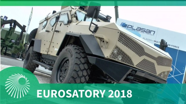 Eurosatory 2018: Plasan's 4 GEN Sandcat 4x4 armoured vehicle