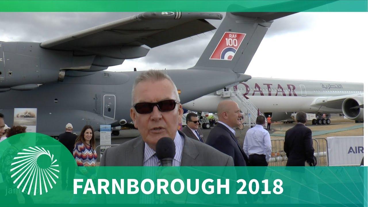 """Farnborough Air Show 2018: Flightline """"Grid Walk"""""""