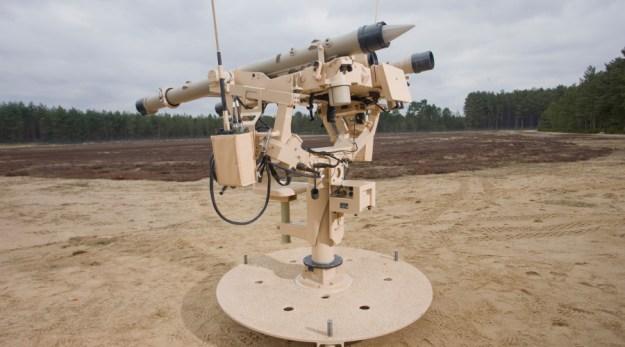 Mistral missile on ATLAS Air Defence Turret