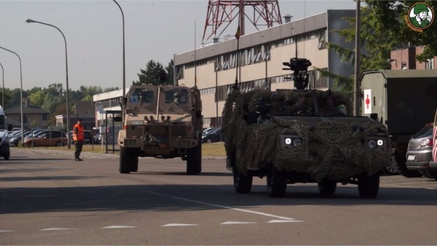 Review analysis armored combat vehicles Belgian Army Military parade 21 July 2018 Brussels Belgium