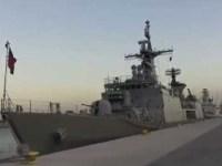 Bangladesh Navy BNS Bangabandhu at Doha International Maritime Exhibition and Conference