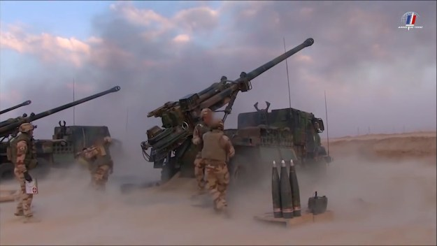 French Army Caesar self-propelled howitzer