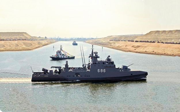 Egyptian Navy Ezzat class Ambassador MK III Fast Missile Boat