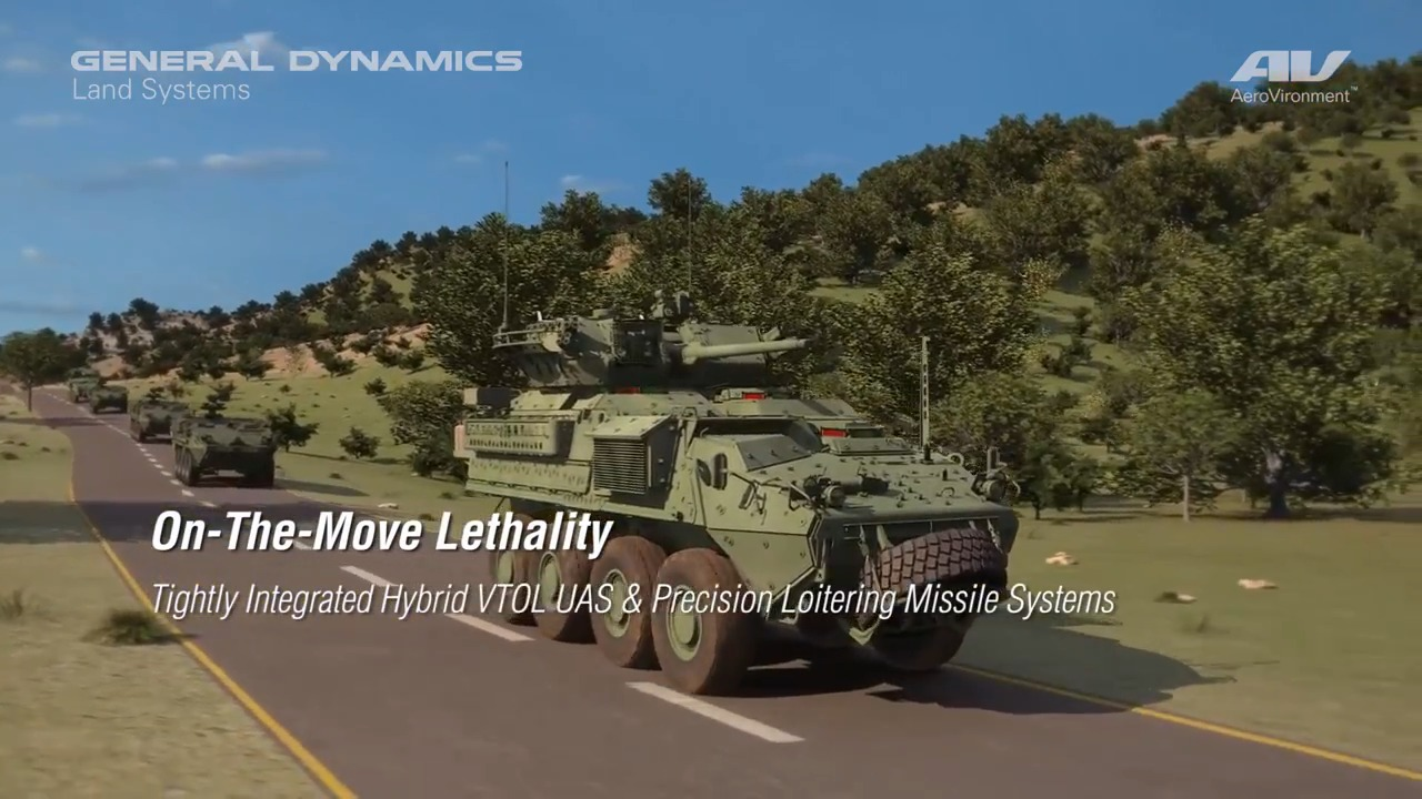 General Dynamics Land Systems Stryker Integrated with Unmanned Aircraft and Tactical Missile Systems