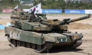 South Korea K2 Black Panther K1A1 main battle tank K1 AVLB review at DX Korea 2018