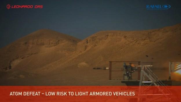 Trophy VPS test on Bradley Infantry Fighting Vehicle