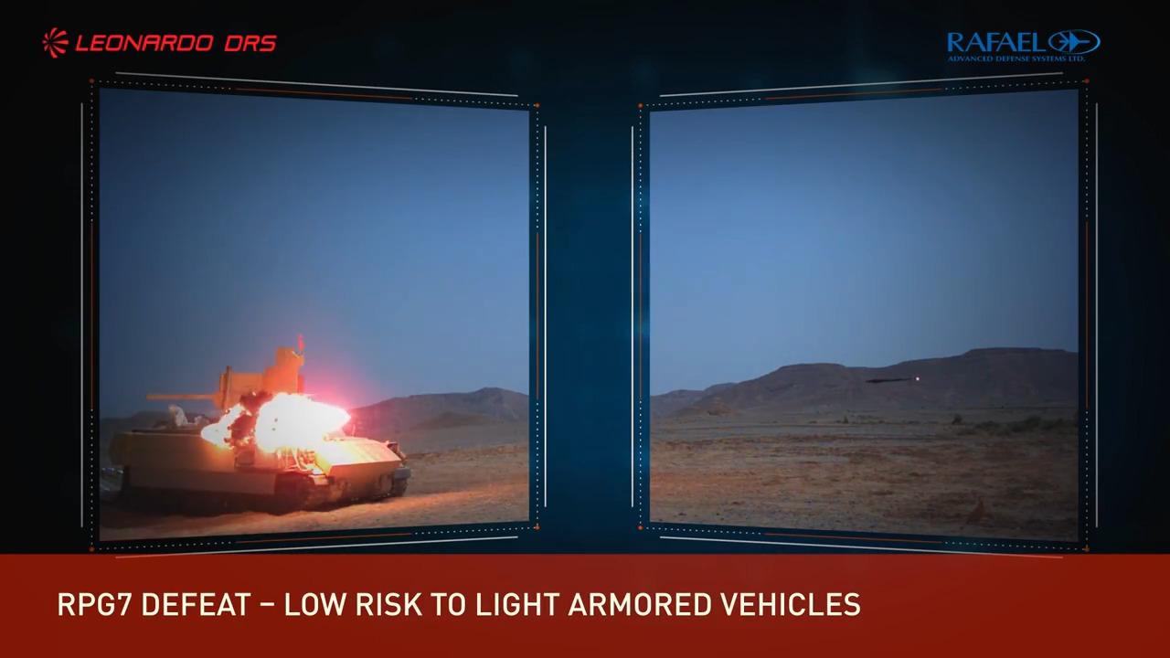 Trophy APS test on Bradley Infantry Fighting Vehicle