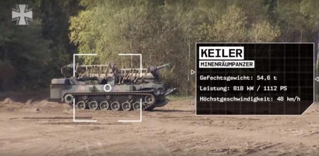 German Army - Keiler Mine-Clearing Vehicle