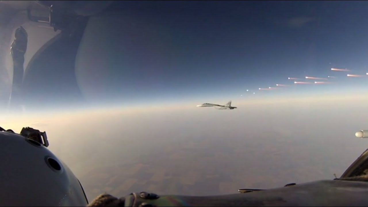Russian Air Force repel a simulated attack above the south of Russia