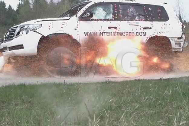 The IAG armored Toyota Land Cruiser 200 Convoy