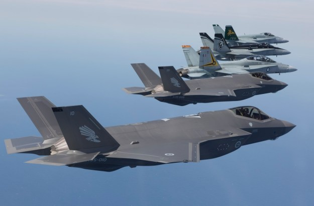Australia's first F-35s Arrive Home to Royal Australian Air Force Williamtown