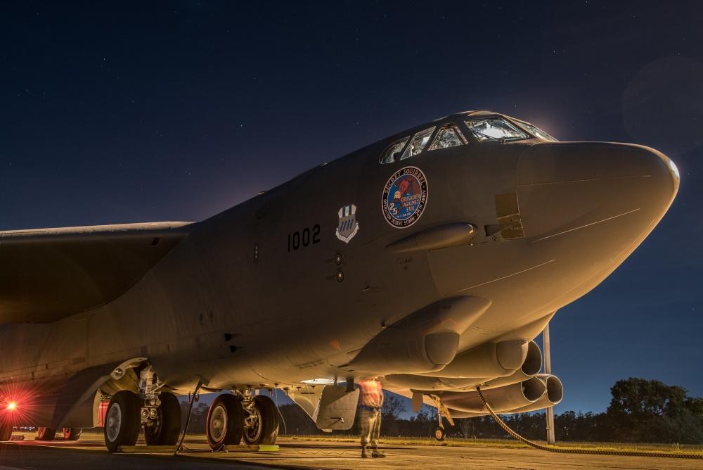 U.S. Air Forces B-52H Stratofortress bombers in RAAF Base Darwin