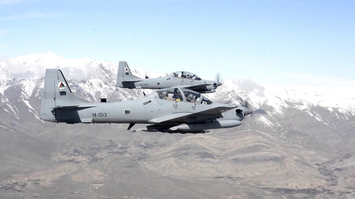 Afghan Air Force Super Tucano Counter-Insurgency Aircraft