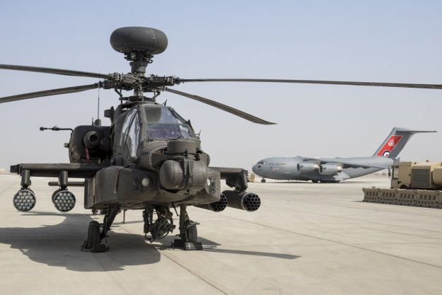 British Army Aviators Apache Attack Helicopters