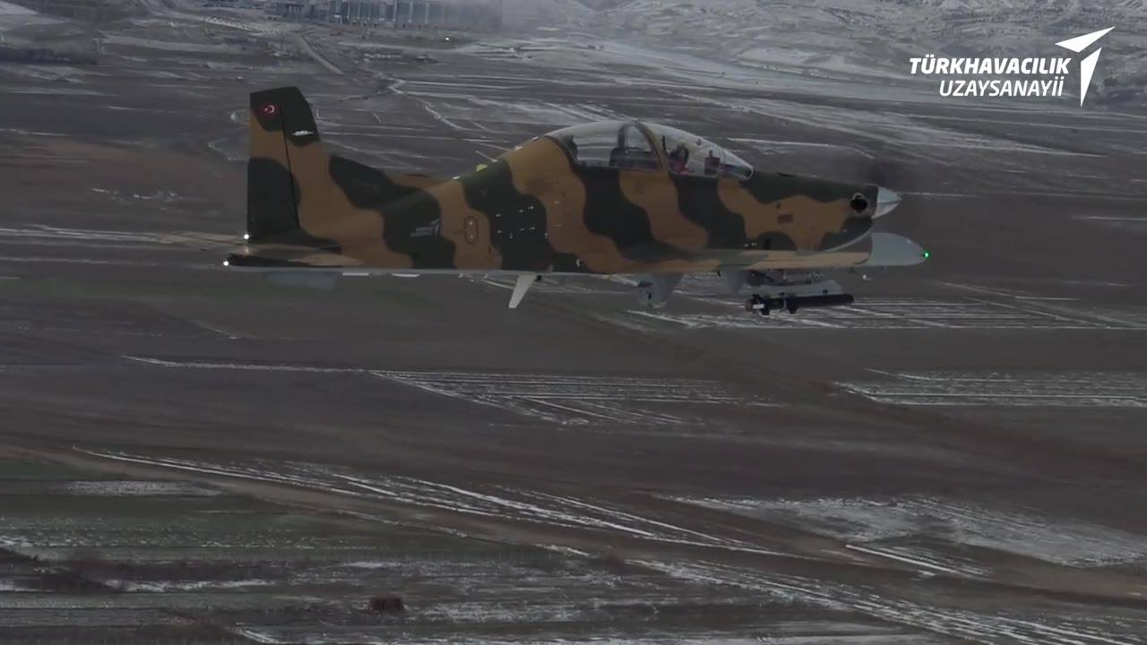 TAI Hurkus-C light attack aircraft successfully completes firing tests