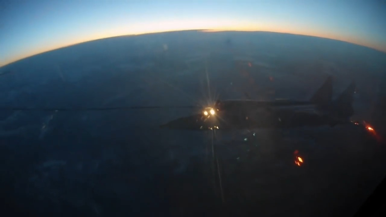 Russia's MiG-31 Foxhound interceptors performed night in-flight refuelling
