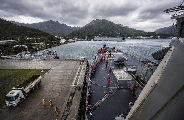 USS Porter departs Aksaz, Turkey