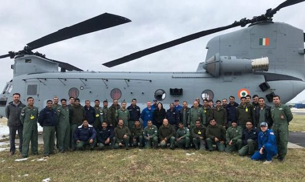 Boeing delivers first four CH-47F Chinook helicopters for Indian Air Force