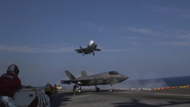 F-35B Flight Operations With GBUs