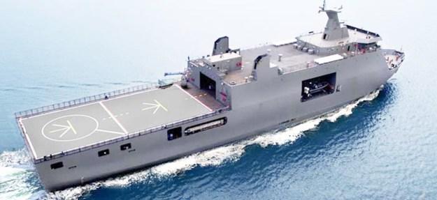 Indonesian Navy KRI Semarang Landing Platform Dock