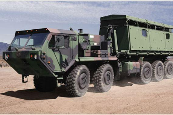 The PLS is designed to carry ammunition and other critical supplies.