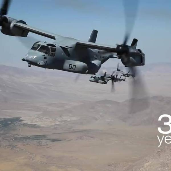 Bell Boeing V-22 Osprey Marks Three Decades of Transforming Military Aviation