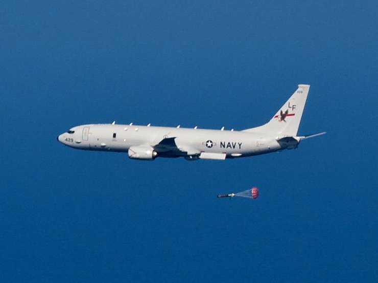 The Boeing P-8 Poseidon (formerly Multimission Maritime Aircraft) is a military aircraft developed and produced by Boeing Defense, Space & Security, modified from the 737-800ERX. It was developed for the United States Navy (USN).