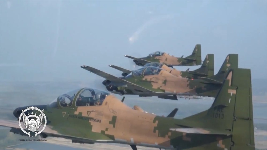 Ecuadorian Air Force Super Tucano Close-air Support Aircraft