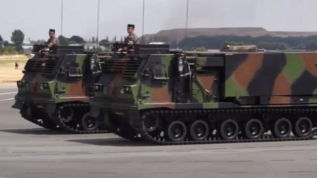 French Army LRU Multiple Launch Rocket System