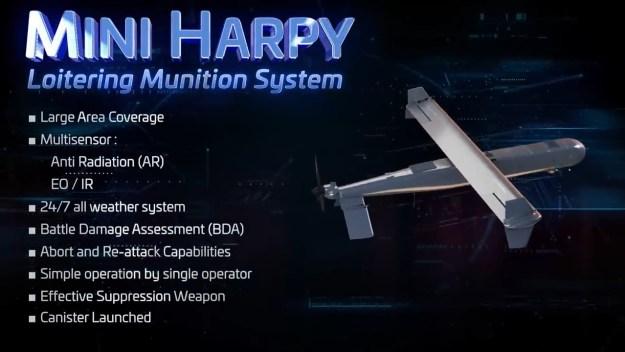 IAI Mini Harpy loitering munition