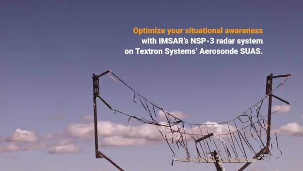 Integrating the IMSAR NSP-3 on the Textron Systems Aerosonde SUAS