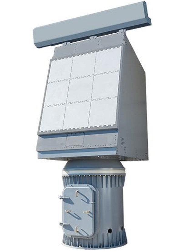 Enterprise Air Surveillance Radar, or EASR, is the U.S. Navy's next generation radar for aircraft carriers and amphibious warfare ships. Two variants are available for use. Seen here is Variant 1, a single face, rotating array.