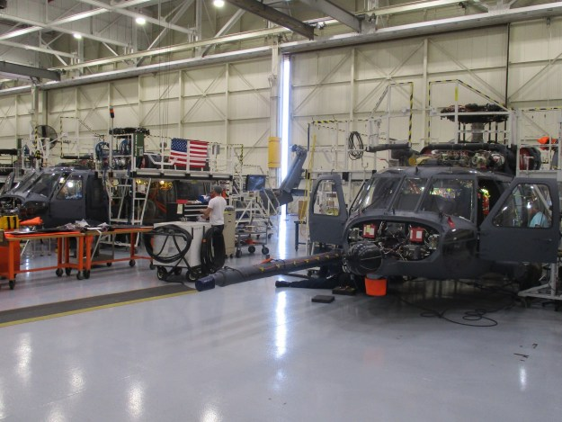 Two HH-60W Combat Rescue Helicopters are at the Sikorsky Development Flight Center in West Palm Beach, Florida, in preparation for flight test