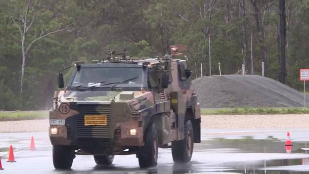 Fiji Military get trained on the Bushmaster