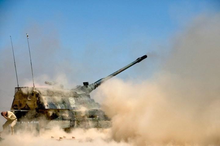 Dutch Test Excalibur Artillery on Swedish Range