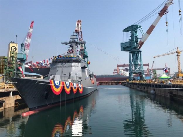 Hyundai Heavy Industries launches Philippine Navy José Rizal-class frigate
