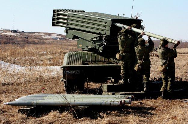 Tornado-G Multiple Launch Rocket System (MLRS)