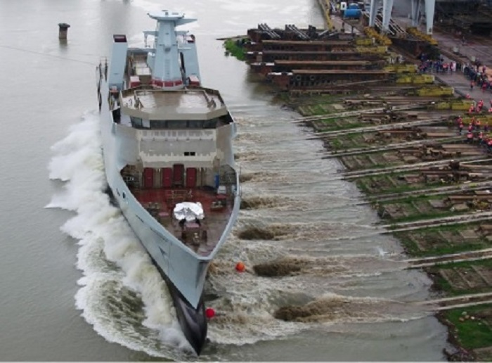 Damen launches first Pakistan Navy corvettes in Romania