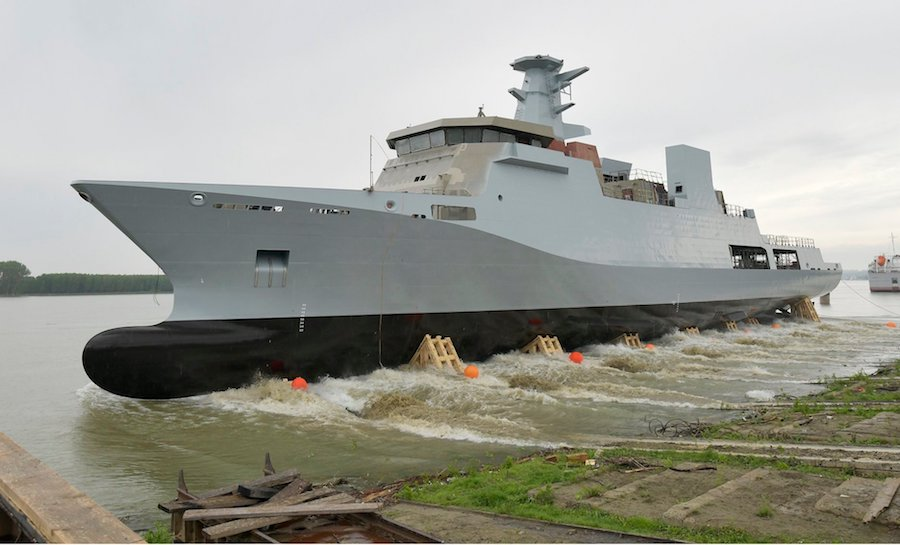 Damen launches first Pakistan Navy corvettes in Romania