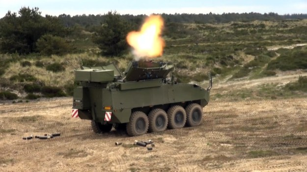 Royal Danish Army Piranha 5 Advanced Automated Autonomous Mortar System