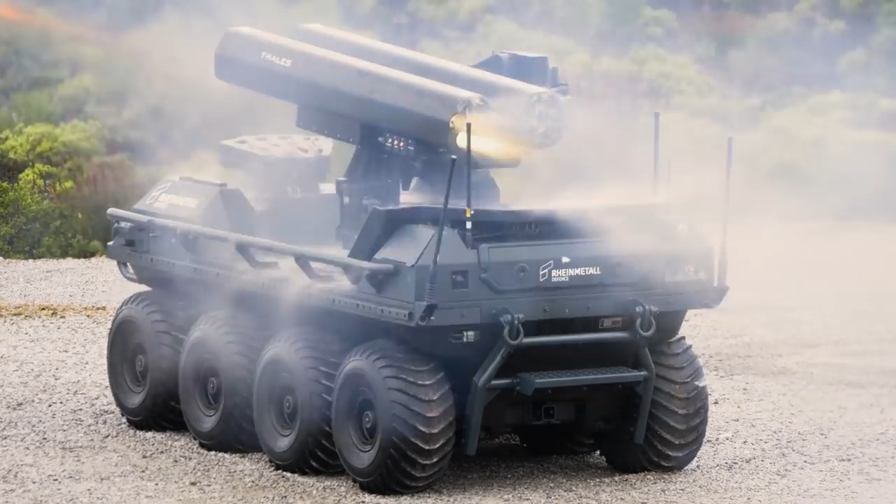 Rheinmetall unveils its Mission Master UGV with 70 mm rockets