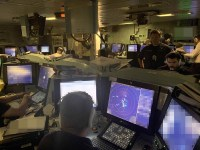 Royal Navy HMS Defender Type 45 Destroyer missile firing