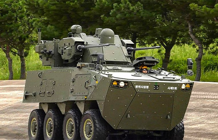 Hanwha Defense Anti-Aircraft Gun Wheeled Vehicle System (AAGW)