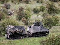 Royal Marines Unleash Heavy Weapons During Salisbury Plain Battle